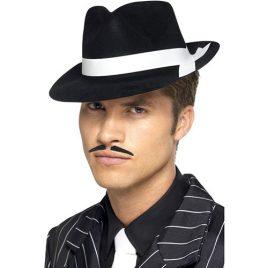 Chapeau gangster Al Capone noir blanc