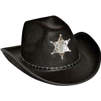 Chapeau shérif noir