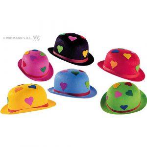 Chapeau melon cœur multicolore