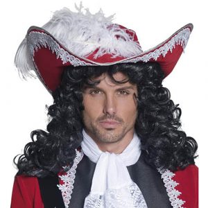 Chapeau pirate rouge authentique