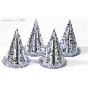 Chapeaux coniques Bonne Année argent
