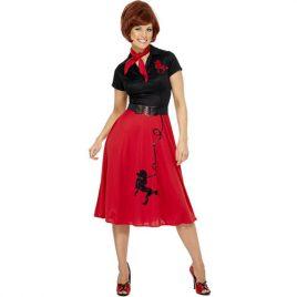 Costume femme années 50 chic caniche