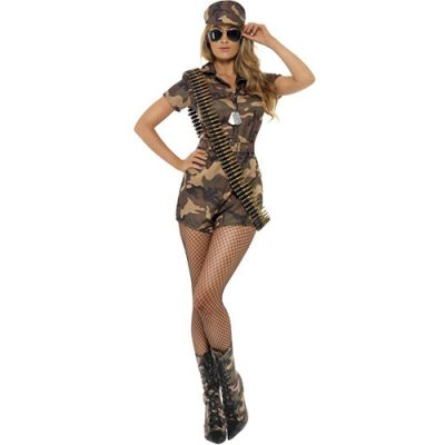 Costume femme armée sexy camouflage