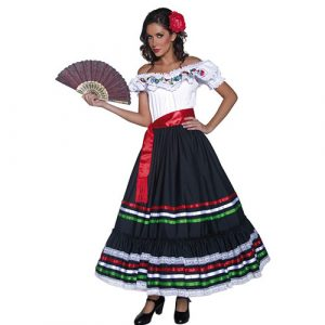 Costume femme Authentic Western Senorita