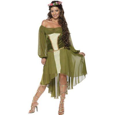 Costume femme belle bohémienne médiévale