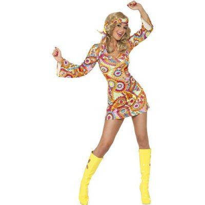 Costume femme belle hippie 1960