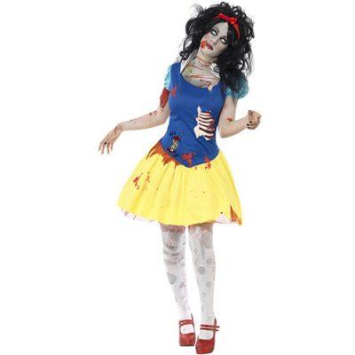 Costume femme Blanche Neige zombie