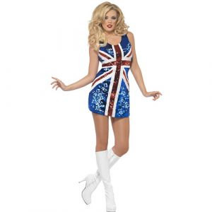 Costume femme miss britannia brillante