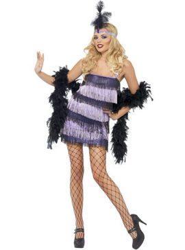 Costume femme charleston prestigieux cabaret