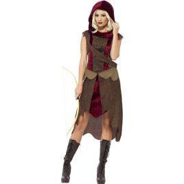 Costume femme chasseresse médiévale