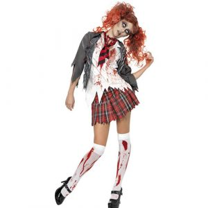 Costume femme écolière zombie