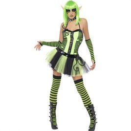 Costume femme elfe jardin magique