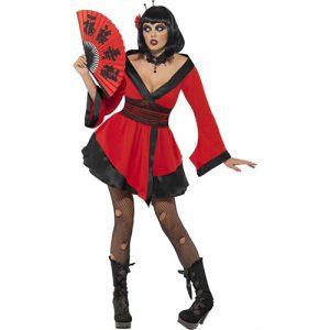 Costume femme geisha gothique
