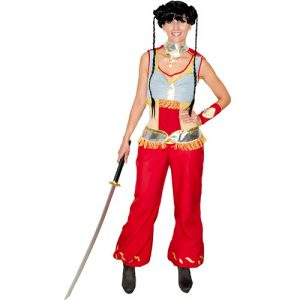 Costume femme manga guerrière