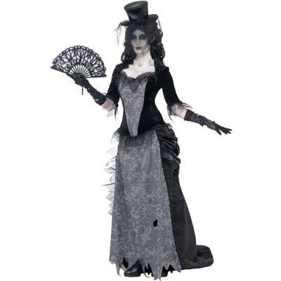 Costume femme veuve gothique fantôme