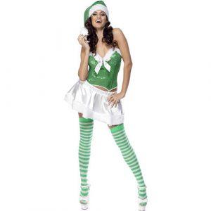 Costume femme Mère Noël verte sexy