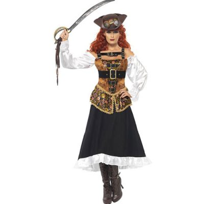 Costume femme miss steam punk pirate