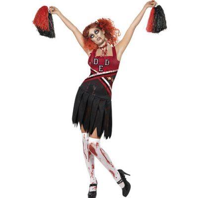 Costume femme pompom girl zombie
