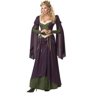 Costume femme reine médiévale