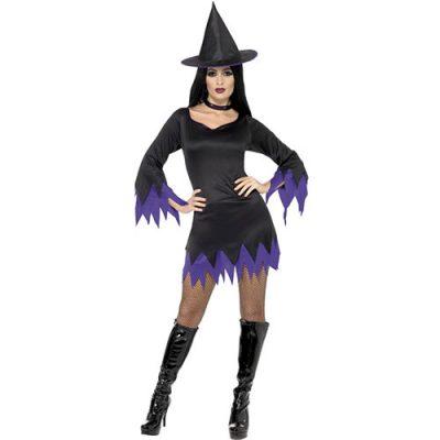 Costume femme sorcière violette