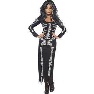 Costume femme squelette habillé