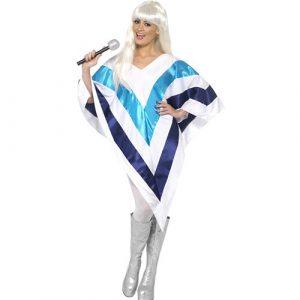Costume femme Super Trooper star poncho