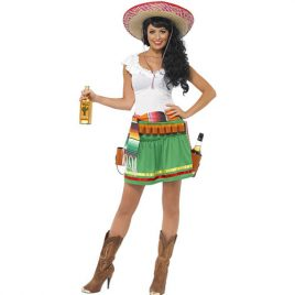 Costume femme mexicaine Tequila shooter