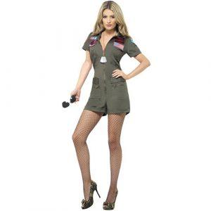 Costume femme Top Gun aviatrice extrême