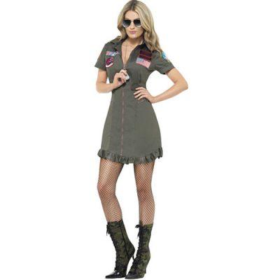 Costume femme Top Gun aviatrice