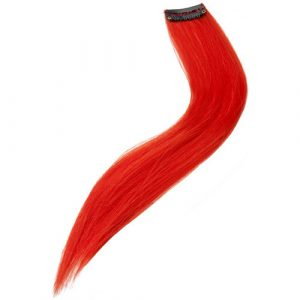 Rajout extension cheveux rouge