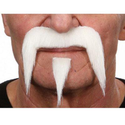 Moustache luxe Buffalo blanche
