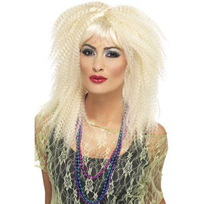 Perruque crêpée blonde