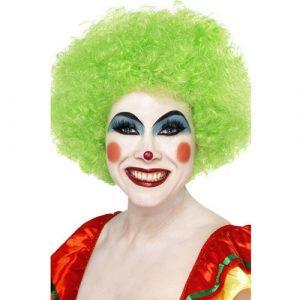 Perruque clown fou vert