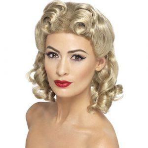Perruque années 40 blonde