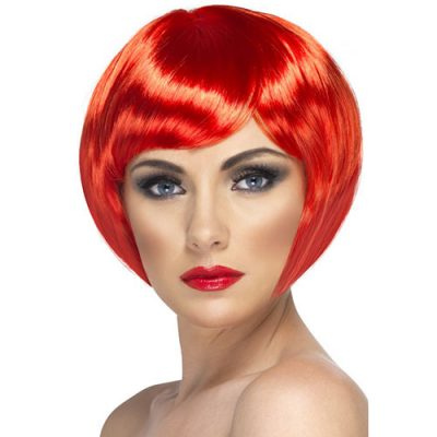 Perruque babe rouge