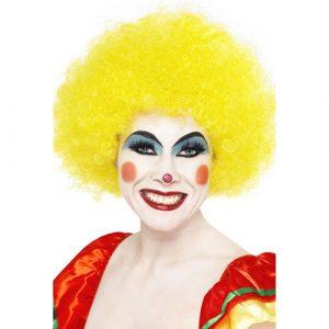 Perruque clown fou jaune