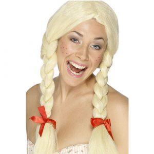 Perruque écolière blonde