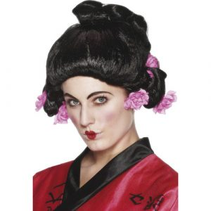 Perruque geisha noire