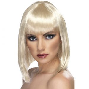 Perruque glam courte blonde