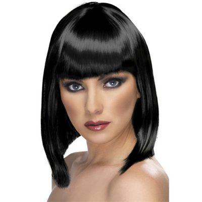 Perruque glam courte noire