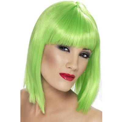 Perruque glam courte verte