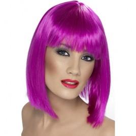 Perruque glam violet fluo