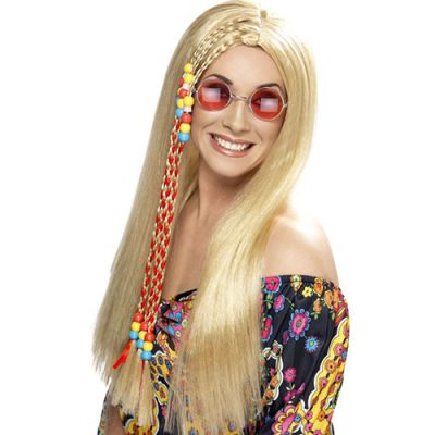 Perruque hippie blonde
