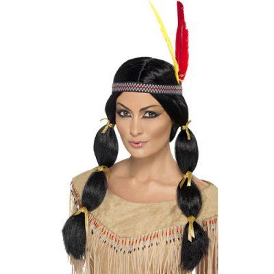 Perruque indienne brune
