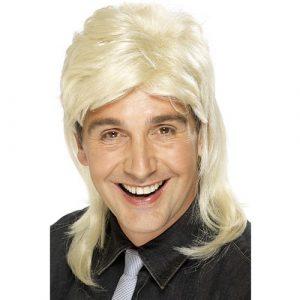 Perruque star années 80 blonde