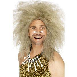 Perruque homme des cavernes blond