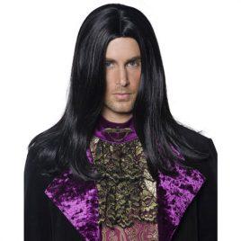 Perruque comte gothique noire