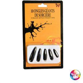 Faux ongles géants noirs - Accessoire maquillage déguisement