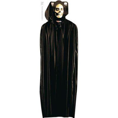 Cape Halloween longue noire capuche