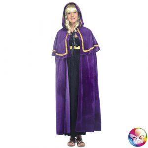 Cape médiévale violette